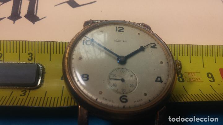 Relojes de pulsera: BOTITO Y MUY ANTIQUE RELOJ TECNA, PARA REPARAR O PIEZAS, CON UNAS LINDAS AGUJITAS AZULADAS - Foto 39 - 121532143