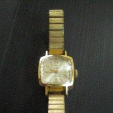 Relojes de pulsera: RELOJ DE SEÑORA KALTER CON PULSERA METALICA EXTENSIBLE 17 RUBIS ANTIMAGNETIC. MADE SWISS. ACERO INOX. Lote 121805031
