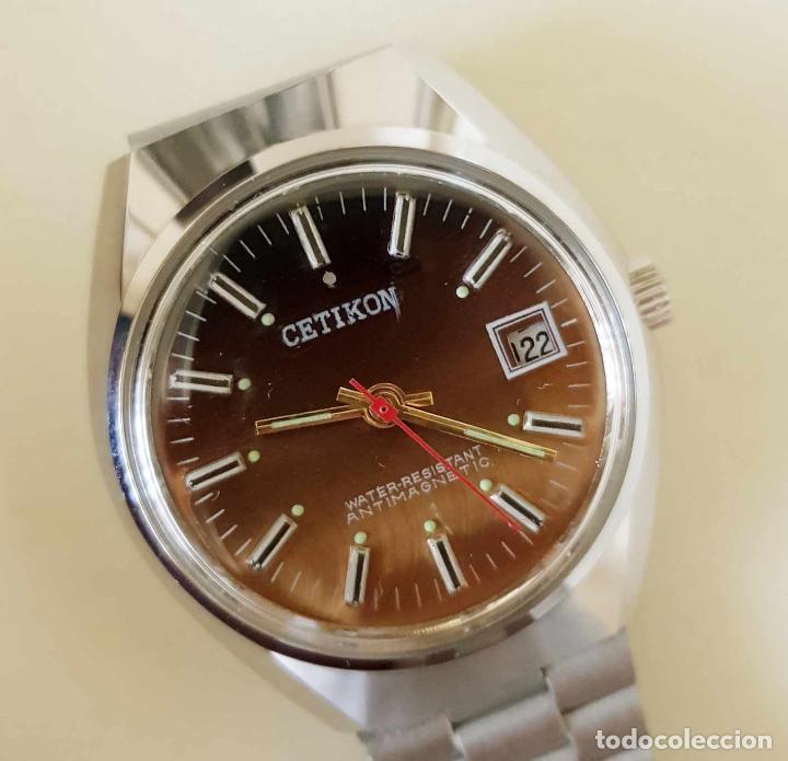 Relojes de pulsera: CETIKON DE CUERDA VINTAGE, C1970 NOS (NEW OLD STOCK) - Foto 4 - 155985236