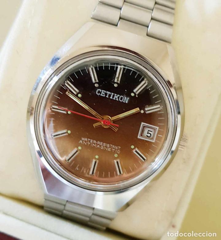 Relojes de pulsera: CETIKON DE CUERDA VINTAGE, C1970 NOS (NEW OLD STOCK) - Foto 5 - 155985236