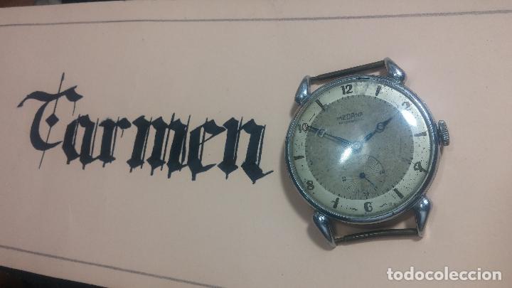 Relojes de pulsera: Botito, grandote y antiqué reloj Medana, para reparar o para piezas... - Foto 3 - 122731991