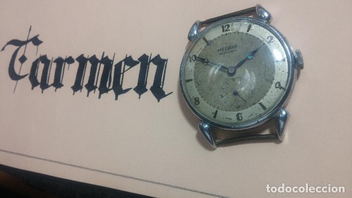 Relojes de pulsera: Botito, grandote y antiqué reloj Medana, para reparar o para piezas... - Foto 4 - 122731991
