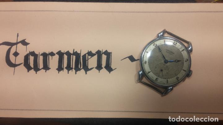 Relojes de pulsera: Botito, grandote y antiqué reloj Medana, para reparar o para piezas... - Foto 6 - 122731991
