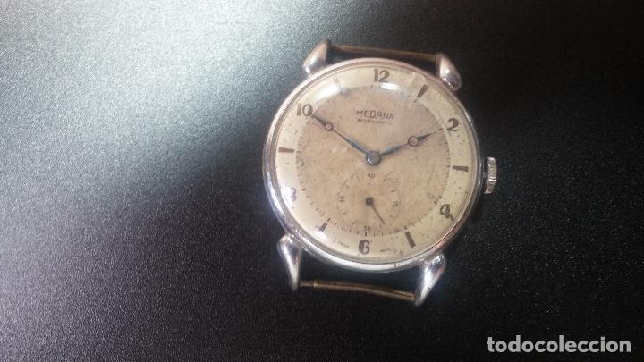 Relojes de pulsera: Botito, grandote y antiqué reloj Medana, para reparar o para piezas... - Foto 7 - 122731991