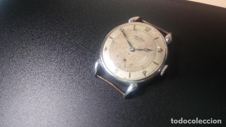 Relojes de pulsera: Botito, grandote y antiqué reloj Medana, para reparar o para piezas... - Foto 10 - 122731991