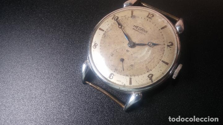 Relojes de pulsera: Botito, grandote y antiqué reloj Medana, para reparar o para piezas... - Foto 11 - 122731991