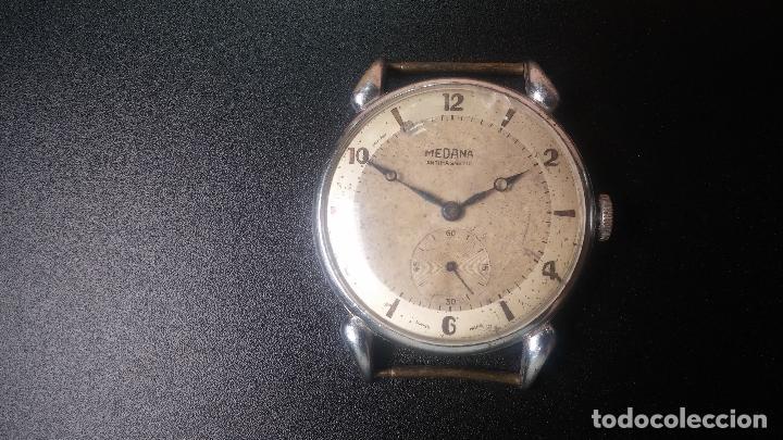 Relojes de pulsera: Botito, grandote y antiqué reloj Medana, para reparar o para piezas... - Foto 13 - 122731991