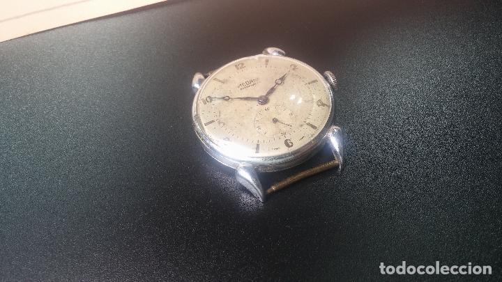 Relojes de pulsera: Botito, grandote y antiqué reloj Medana, para reparar o para piezas... - Foto 15 - 122731991