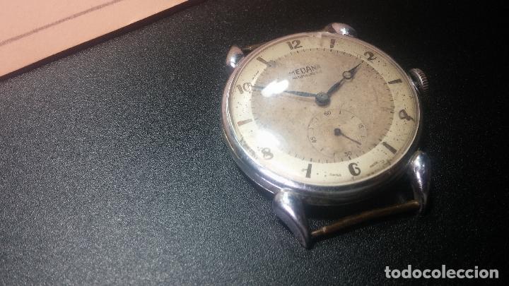 Relojes de pulsera: Botito, grandote y antiqué reloj Medana, para reparar o para piezas... - Foto 16 - 122731991