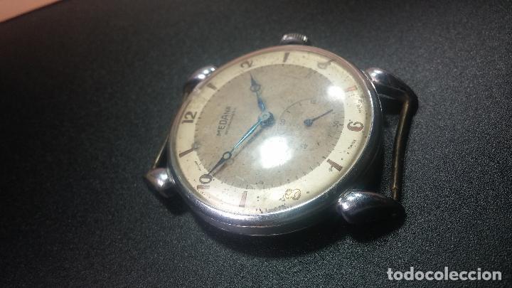 Relojes de pulsera: Botito, grandote y antiqué reloj Medana, para reparar o para piezas... - Foto 17 - 122731991
