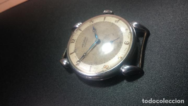 Relojes de pulsera: Botito, grandote y antiqué reloj Medana, para reparar o para piezas... - Foto 18 - 122731991