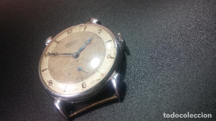 Relojes de pulsera: Botito, grandote y antiqué reloj Medana, para reparar o para piezas... - Foto 19 - 122731991