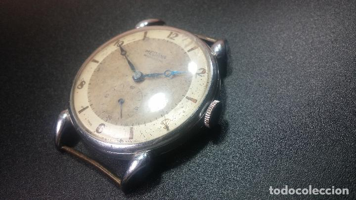 Relojes de pulsera: Botito, grandote y antiqué reloj Medana, para reparar o para piezas... - Foto 20 - 122731991