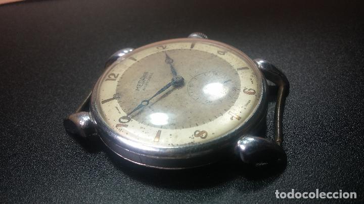Relojes de pulsera: Botito, grandote y antiqué reloj Medana, para reparar o para piezas... - Foto 21 - 122731991