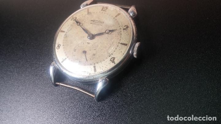 Relojes de pulsera: Botito, grandote y antiqué reloj Medana, para reparar o para piezas... - Foto 22 - 122731991