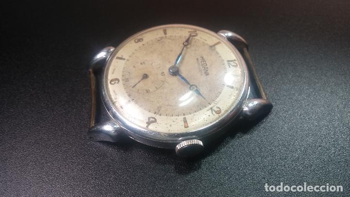 Relojes de pulsera: Botito, grandote y antiqué reloj Medana, para reparar o para piezas... - Foto 24 - 122731991