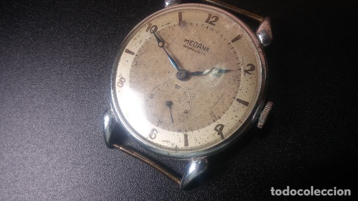 Relojes de pulsera: Botito, grandote y antiqué reloj Medana, para reparar o para piezas... - Foto 30 - 122731991