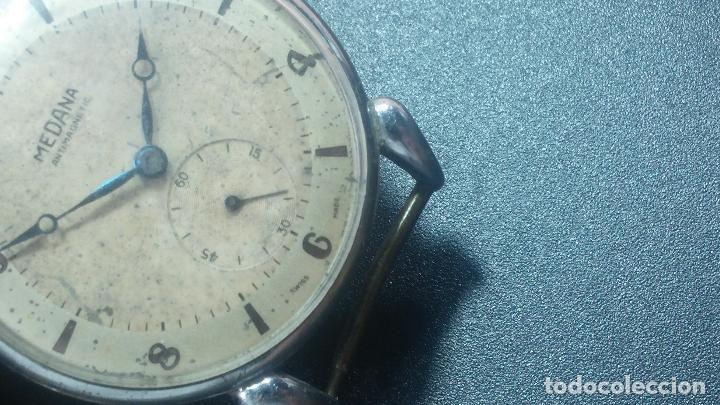 Relojes de pulsera: Botito, grandote y antiqué reloj Medana, para reparar o para piezas... - Foto 33 - 122731991