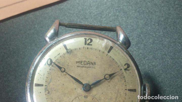 Relojes de pulsera: Botito, grandote y antiqué reloj Medana, para reparar o para piezas... - Foto 34 - 122731991
