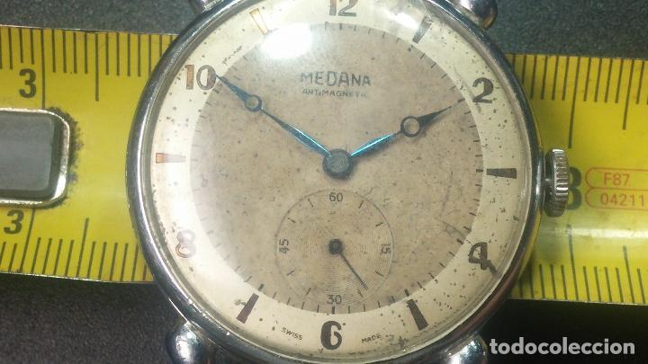 Relojes de pulsera: Botito, grandote y antiqué reloj Medana, para reparar o para piezas... - Foto 36 - 122731991