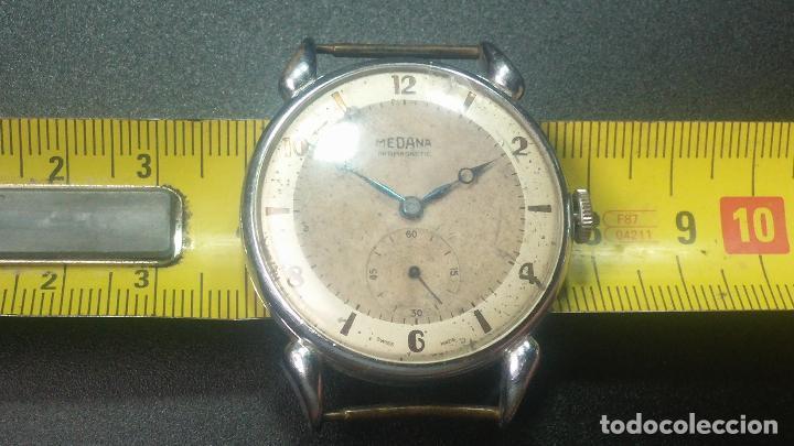 Relojes de pulsera: Botito, grandote y antiqué reloj Medana, para reparar o para piezas... - Foto 37 - 122731991
