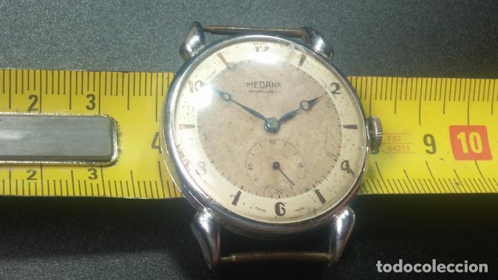 Relojes de pulsera: Botito, grandote y antiqué reloj Medana, para reparar o para piezas... - Foto 38 - 122731991