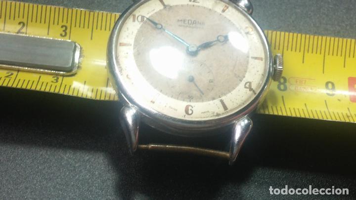 Relojes de pulsera: Botito, grandote y antiqué reloj Medana, para reparar o para piezas... - Foto 39 - 122731991