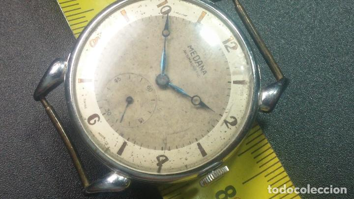 Relojes de pulsera: Botito, grandote y antiqué reloj Medana, para reparar o para piezas... - Foto 40 - 122731991