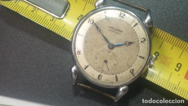 Relojes de pulsera: Botito, grandote y antiqué reloj Medana, para reparar o para piezas... - Foto 42 - 122731991