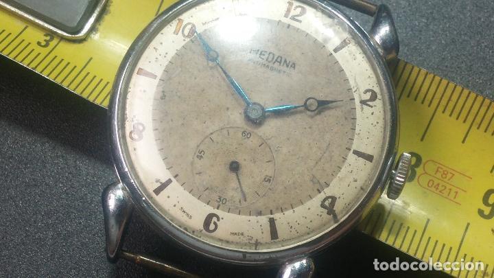 Relojes de pulsera: Botito, grandote y antiqué reloj Medana, para reparar o para piezas... - Foto 43 - 122731991