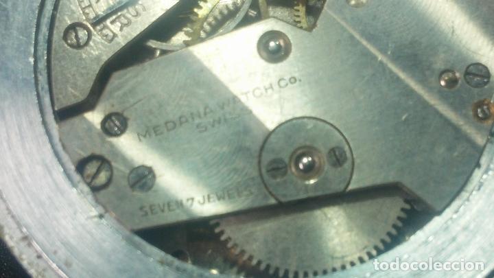 Relojes de pulsera: Botito, grandote y antiqué reloj Medana, para reparar o para piezas... - Foto 45 - 122731991