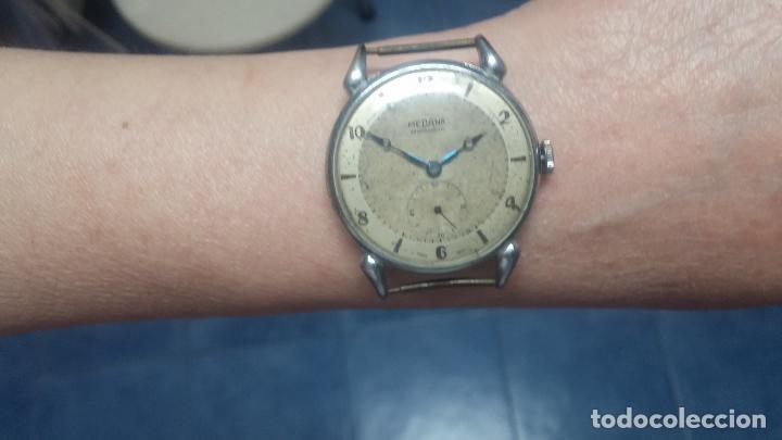 Relojes de pulsera: Botito, grandote y antiqué reloj Medana, para reparar o para piezas... - Foto 55 - 122731991