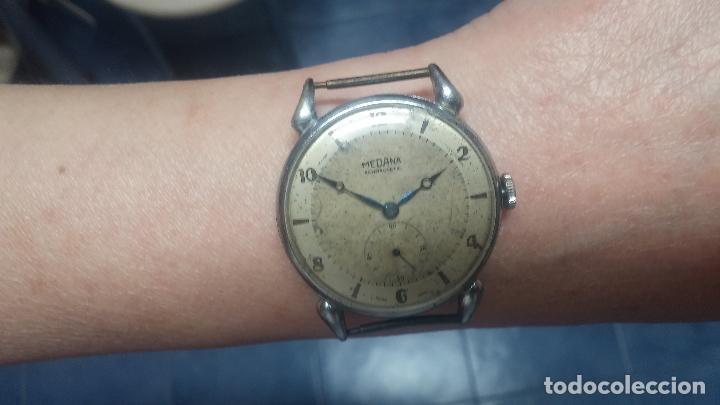 Relojes de pulsera: Botito, grandote y antiqué reloj Medana, para reparar o para piezas... - Foto 56 - 122731991