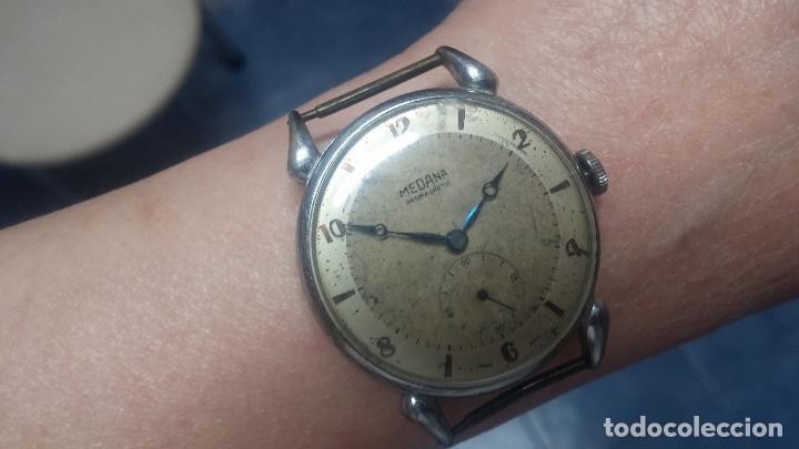 Relojes de pulsera: Botito, grandote y antiqué reloj Medana, para reparar o para piezas... - Foto 57 - 122731991