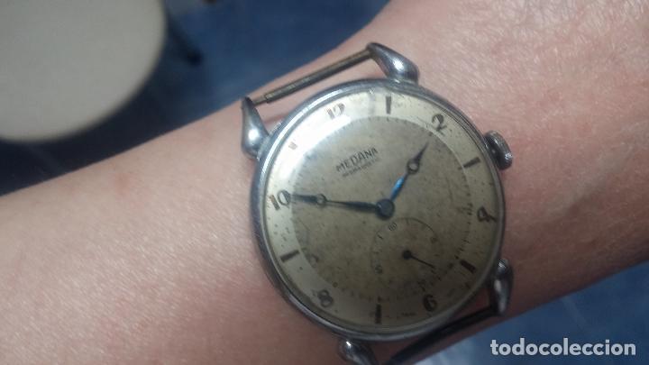 Relojes de pulsera: Botito, grandote y antiqué reloj Medana, para reparar o para piezas... - Foto 58 - 122731991