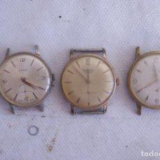 Relojes de pulsera: LOTE DE 3 RELOJES MECANICOS CLASICOS TITAN, CIMIER Y THERMIDOR C7. Lote 122816859