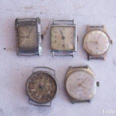 Relojes de pulsera: LOTE DE 5 RELOJES MECANICOS C10. Lote 122817387
