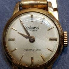Relojes de pulsera: RELOJ RADIANT 15 RUBÍES CHAPADO EN ORO. Lote 122913846
