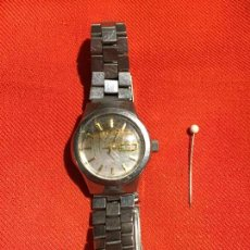 Relojes de pulsera: ANTIGUO RELOJ DE PULSERA AUTOMATICO PARA SEÑORA CON CORREA Y CIERRE MARCA DUWART AÑOS 70-80. Lote 123523695