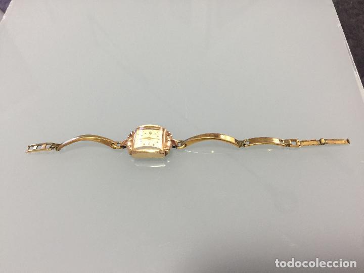 Relojes de pulsera: 3 APR - RELOJ RUSO DE PULSERA , CAJA DE ORO CONTRASTADO , RUSSIAN WATCH GOLD - Foto 12 - 124018675
