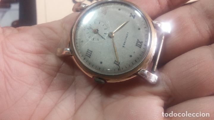 Relojes de pulsera: Botito y enorme reloj Longines con maquinaria de Gala, para reparar o piezas, aunque pareciera que.. - Foto 3 - 151378525