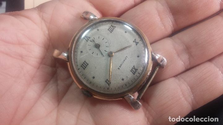 Relojes de pulsera: Botito y enorme reloj Longines con maquinaria de Gala, para reparar o piezas, aunque pareciera que.. - Foto 4 - 151378525