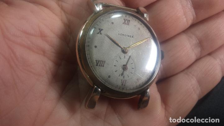 Relojes de pulsera: Botito y enorme reloj Longines con maquinaria de Gala, para reparar o piezas, aunque pareciera que.. - Foto 6 - 151378525