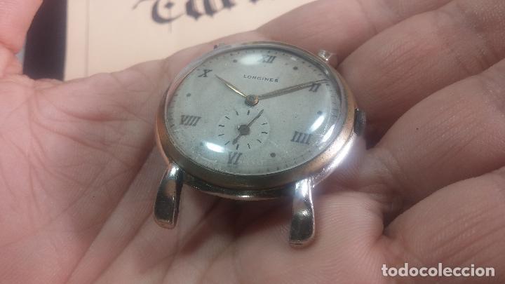 Relojes de pulsera: Botito y enorme reloj Longines con maquinaria de Gala, para reparar o piezas, aunque pareciera que.. - Foto 7 - 151378525