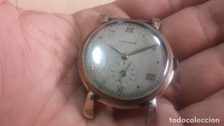 Relojes de pulsera: Botito y enorme reloj Longines con maquinaria de Gala, para reparar o piezas, aunque pareciera que.. - Foto 9 - 151378525