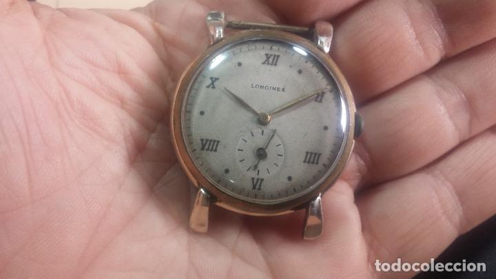 Relojes de pulsera: Botito y enorme reloj Longines con maquinaria de Gala, para reparar o piezas, aunque pareciera que.. - Foto 10 - 151378525