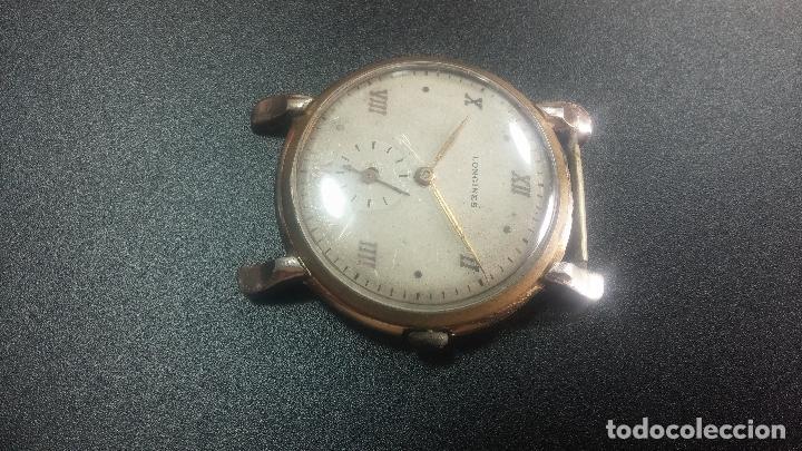 Relojes de pulsera: Botito y enorme reloj Longines con maquinaria de Gala, para reparar o piezas, aunque pareciera que.. - Foto 11 - 151378525