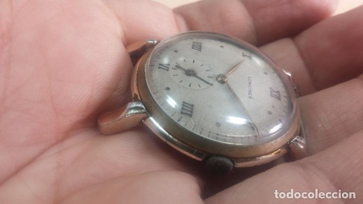 Relojes de pulsera: Botito y enorme reloj Longines con maquinaria de Gala, para reparar o piezas, aunque pareciera que.. - Foto 12 - 151378525
