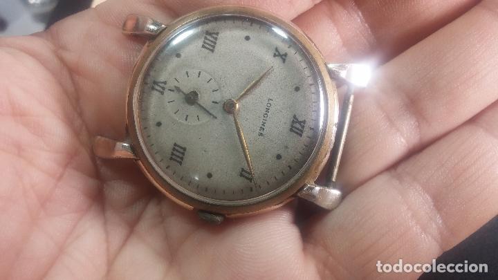 Relojes de pulsera: Botito y enorme reloj Longines con maquinaria de Gala, para reparar o piezas, aunque pareciera que.. - Foto 14 - 151378525