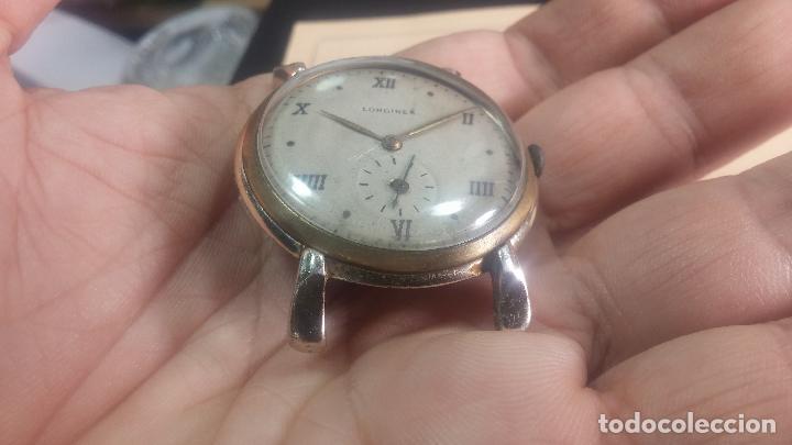 Relojes de pulsera: Botito y enorme reloj Longines con maquinaria de Gala, para reparar o piezas, aunque pareciera que.. - Foto 17 - 151378525